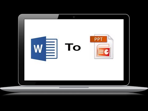 How To Convert Microsoft Word To PowerPoint Presentation Easily And Directly In MS Office 2016