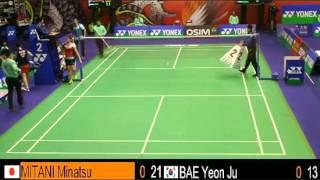 QF - WS - MITANI Minatsu vs BAE Yeon Ju - 2013 Hong Kong Open