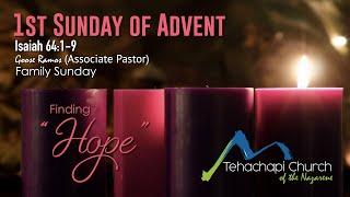 Finding Hope 11/29/2020 Pastor Goose Ramos