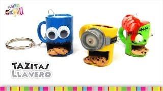 Cool coffee mugs keychains(Polymer Clay) / Padrísimos llaveros en forma de taza(Arcilla Polimérica) Thumbnail
