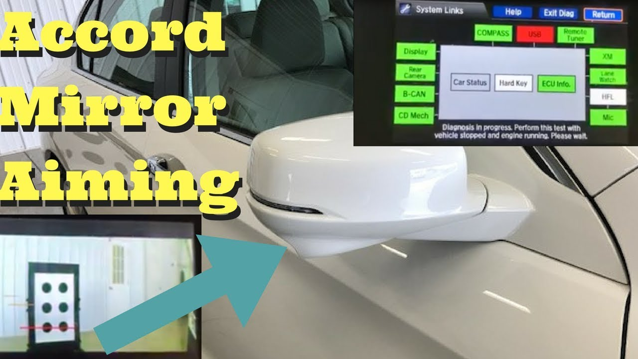 2015 2016 2017 Honda Accord How to Aim Side Mirror LaneWatch Camera Without  Navigation Navi