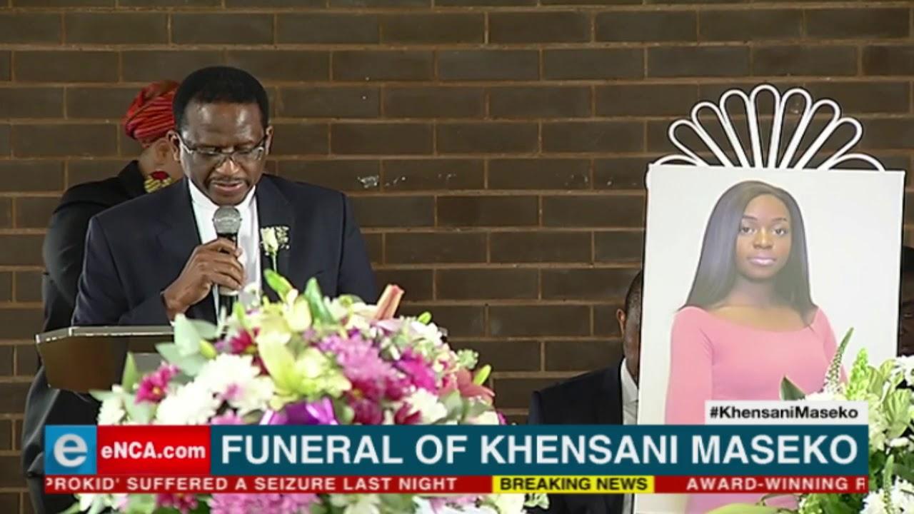 South Afica's Rhodes University Vice-Chancellor at Khensani Maseko's funeral.