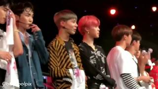 170804 BTS JIMIN and TaeMin Music Bank in Singapore  FANCAM + PIC