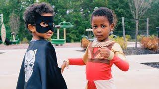 DIY Black Panther Halloween Costume | Baby Dora Milaje