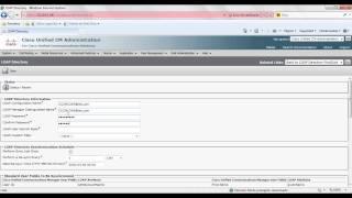 Configuring LDAP CUCM 10