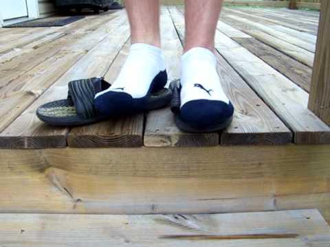 11da6a4674fd Adidas Slides And Puma No Show Socks - YouTube