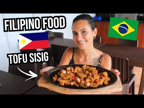 FOREIGNERS COOK FILIPINO FOOD 🇵🇭 TOFU SISIG (VEGETARIAN)