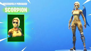 Scorpio! ONE OF THE BEST SKINS FOR 800 V-BUCKS! FORTNITE BATTLE ROYALE