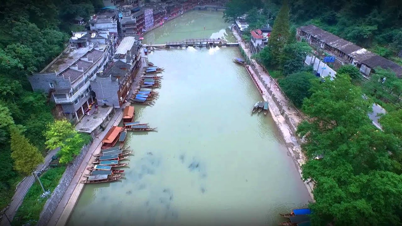 鳳凰古城 天下鳳凰遊 航拍 The Old Town of Phoenix Aerial Video