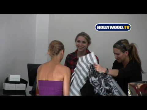 The O.C. Star Samaire Armstrong Shops At Alice + Olive