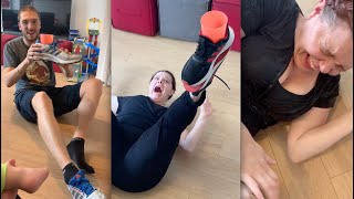 When Mum & Dad try the Shoe Challenge 👟😬