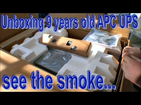 Unboxing a 9 year old APC UPS,, see the smoke - 158