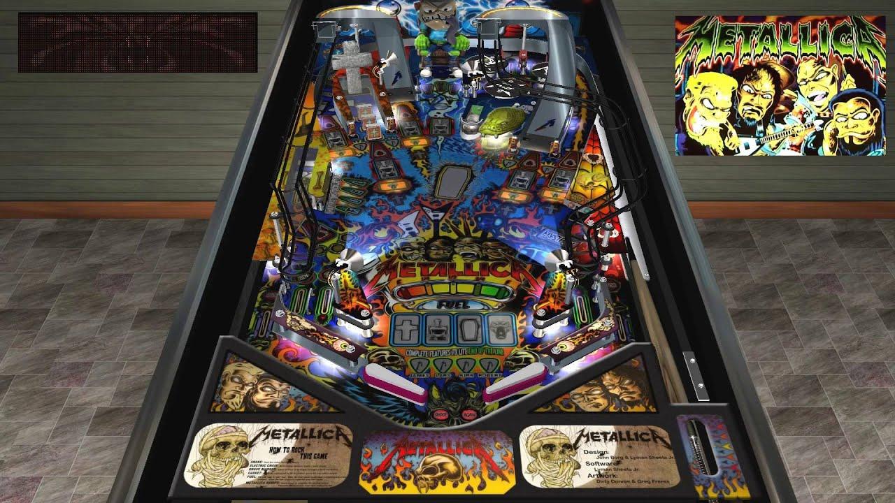 Visual Pinball Physmod5 Stern Metallica Desktop MOD