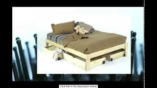 Queen Size - Solid Wood Platform Bed Frame - Clean Unfinished Chemical Free Pine - Made In Usa