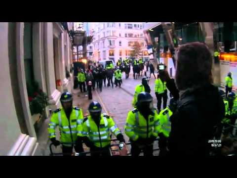 Police agent provocateurs @ Nov 9th 2011, London NCAFC March