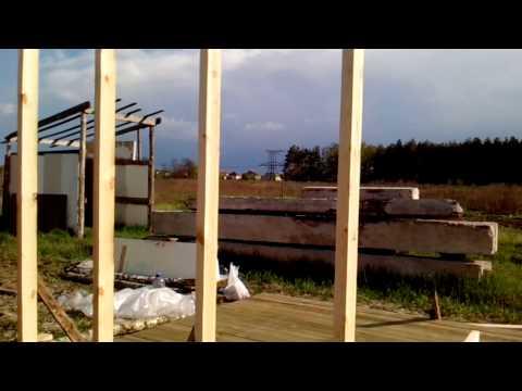 видео: Строительство стен сарая