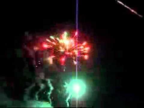 Silvesterfeuerwerk 2010-2011 in Moorrege ca. 1056 Schuss