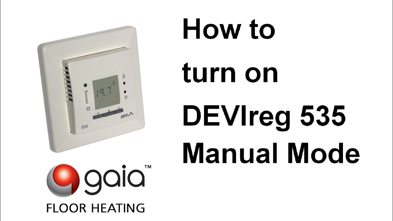 maxresdefault how to turn on devireg 535 manual mode youtube devi underfloor heating wiring diagram at soozxer.org
