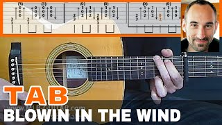 """Guitar Cover / Tab """"Blowin In The Wind"""" by MLR-Guitar"""