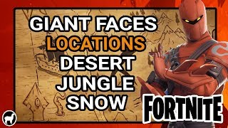 Fortnite All Visit a Giant Face Locations | Season 8 Week 1 Challenges