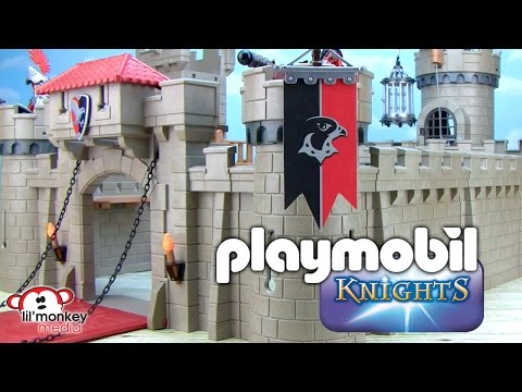 Playmobil Massive Hawk Knights Castle with Tower/wall extensions and Rainbow LED Castle Ghost!