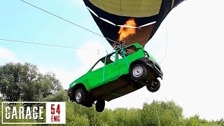 The world's first flying car: lifting an Oka with a hot air balloon