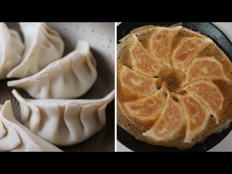 Crispy fried pork dumpling (Gyoza) by dimple kitchen เกี๊ยวซ่า บอกวิธีการทอด การเก็บรักษา