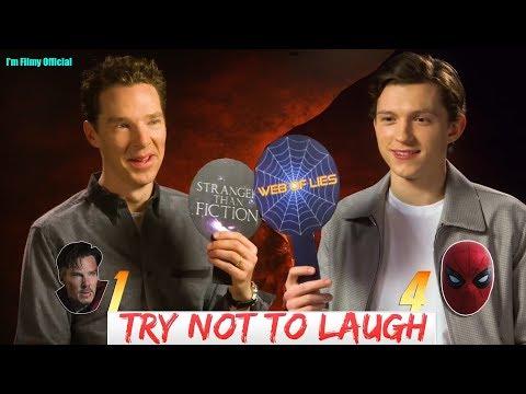 Avengers: Infinity War - Tom Holland & Benedict Cumberbatch Play True Or False - Funny Game 2018