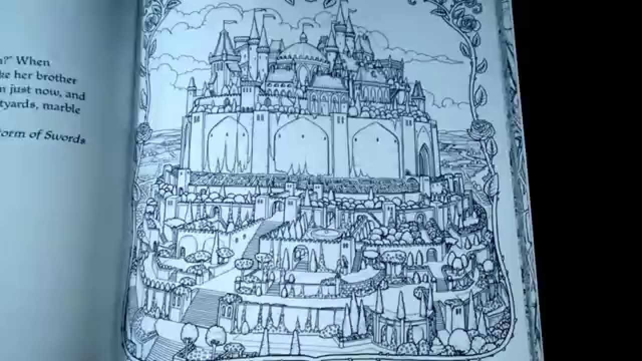 game of thrones coloring book preview youtube - Game Of Thrones Coloring Book