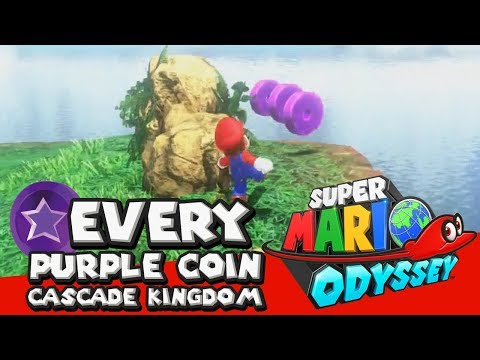 Super Mario Odyssey Walkthrough - How To Get All 50 Purple Coins In Cascade Kingdom (location Guide)