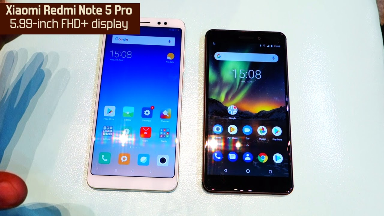 New Nokia 6 2018 vs Xiaomi Redmi Note 5 Pro: Comaprison [Hindi-हिन्दी]