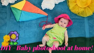 DIY - Baby at the park photoshoot idea at home!