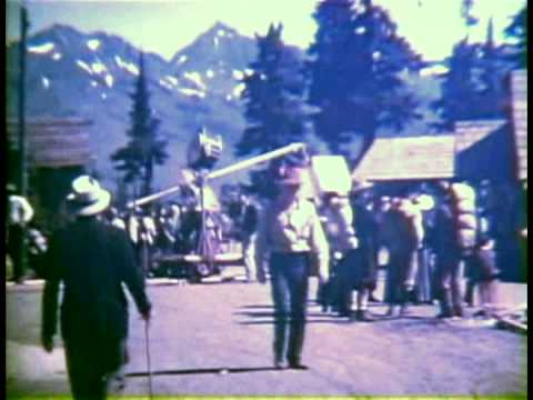 """1937 FILMED ON THE SET OF THE MOVIE """"THE BARRIER"""" STARING  LEO CARRILLO & JEAN PARKER"""