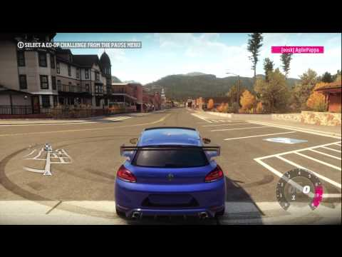 quarter mile drag Volkswagen scirocco R Forza Horizon
