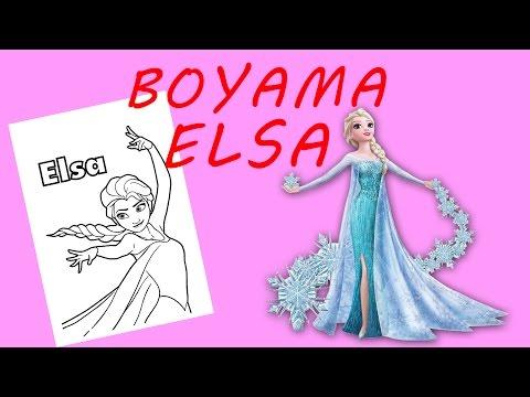 Karlar Kralicesi Elsa Boyama Sayfasi Youtube