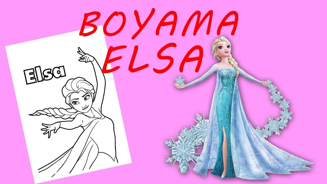Karlar Kraliçesi Elsa Boyama Sayfasi Youtube