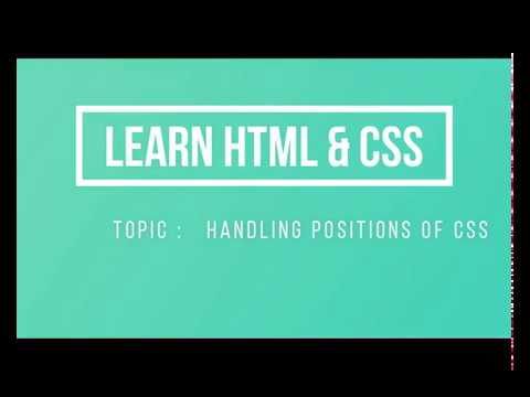 Lecture 23   Handling Positions of CSS