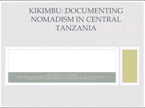 RVN Webinar Series - Kikimbu: Documenting nomadism in central Tanzania