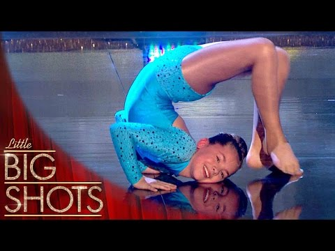 Young gymnast hotshot leaves crowd in awe (YOUTUBE EXCLUSIVE) | Little Big Shots