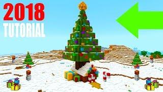 "Minecraft Tutorial: How To Make A Christmas Tree House ""Christmas Themed House Tutorial"""