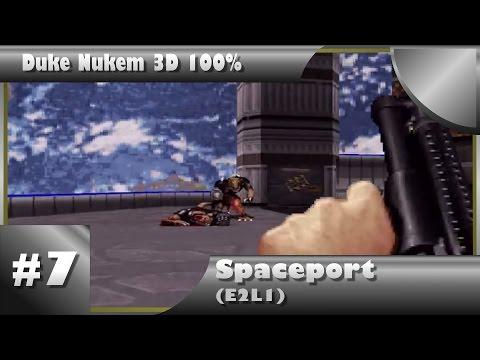 Duke Nukem 3D 100% Walkthrough: Spaceport (E2L1) [All Secrets]