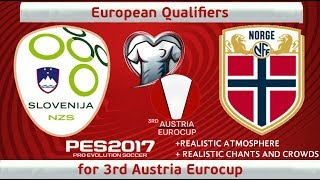 Slovenia vs. Norway | 3rd Austria Eurocup Qualifiers | PES2017 | 60fps
