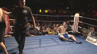 Classic IBA Boxing - Billy The Kid v Ben Nuttall - First Round Beating!