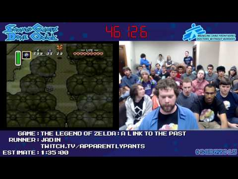 Legend of Zelda: A Link to the Past Speed Run in 1:27:29 by Jadin *#SGDQ 2013* [SNES]