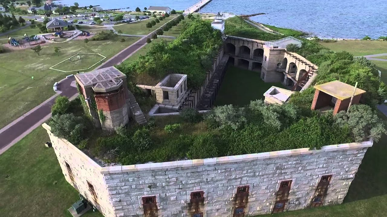 Fort Rodman New Bedford Ma Dji Inspire 1 Drone Youtube