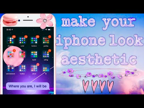 How To Make Your Iphone Look Aesthetic Organization Fonts