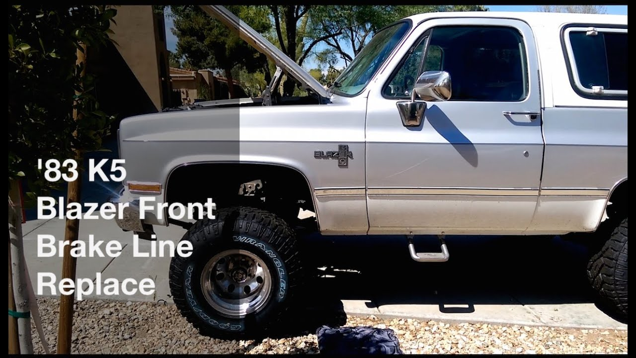 1983 Chevy Truck >> 1983 K5 Blazer Front Brake Hose Replace - YouTube