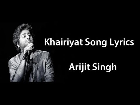 Arijit Singh Khairiyat Puchho Full Song Lyrics Chhhichore Movie  Arijit Singh Khairiyat Song Lyrics