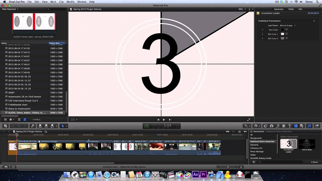 how to make video brighter final cut pro x