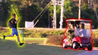 STEALING GOLF CARTS WITH NELK IN GHILLIE SUITS PRANK!! | JOOGSQUAD PPJT